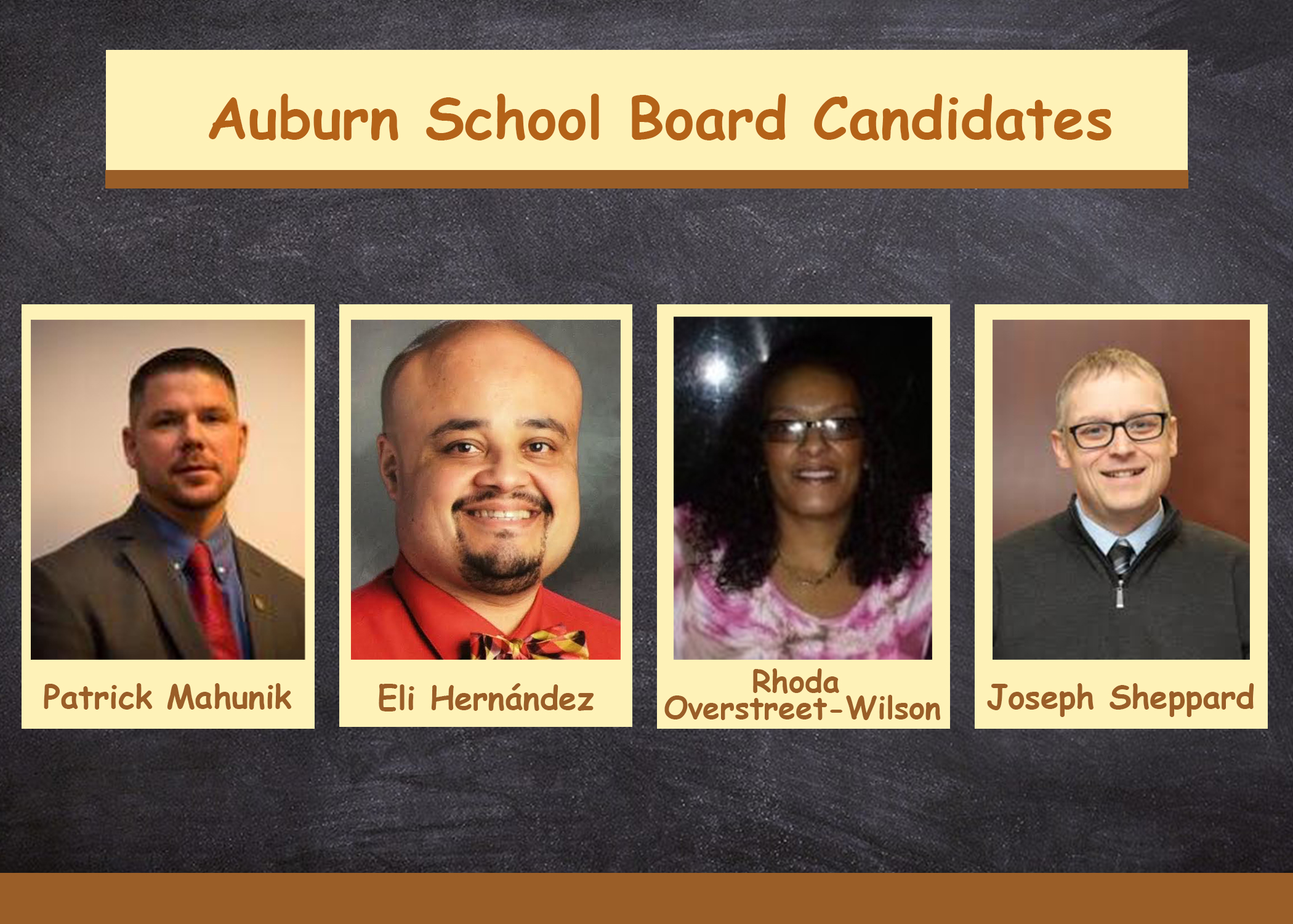 Q&A with school board candidates from the Auburn Enlarged City School District