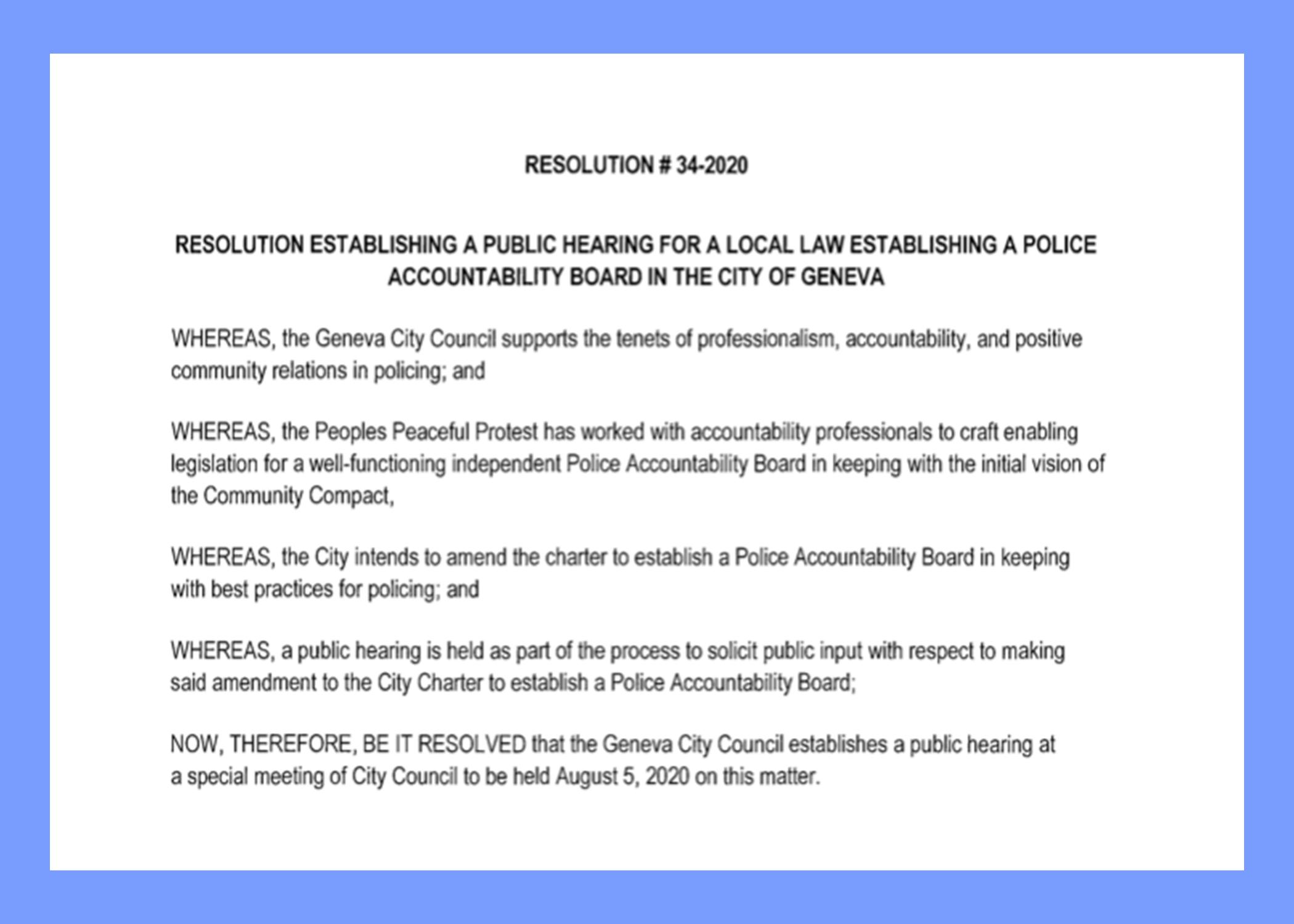 rochester police accountability board