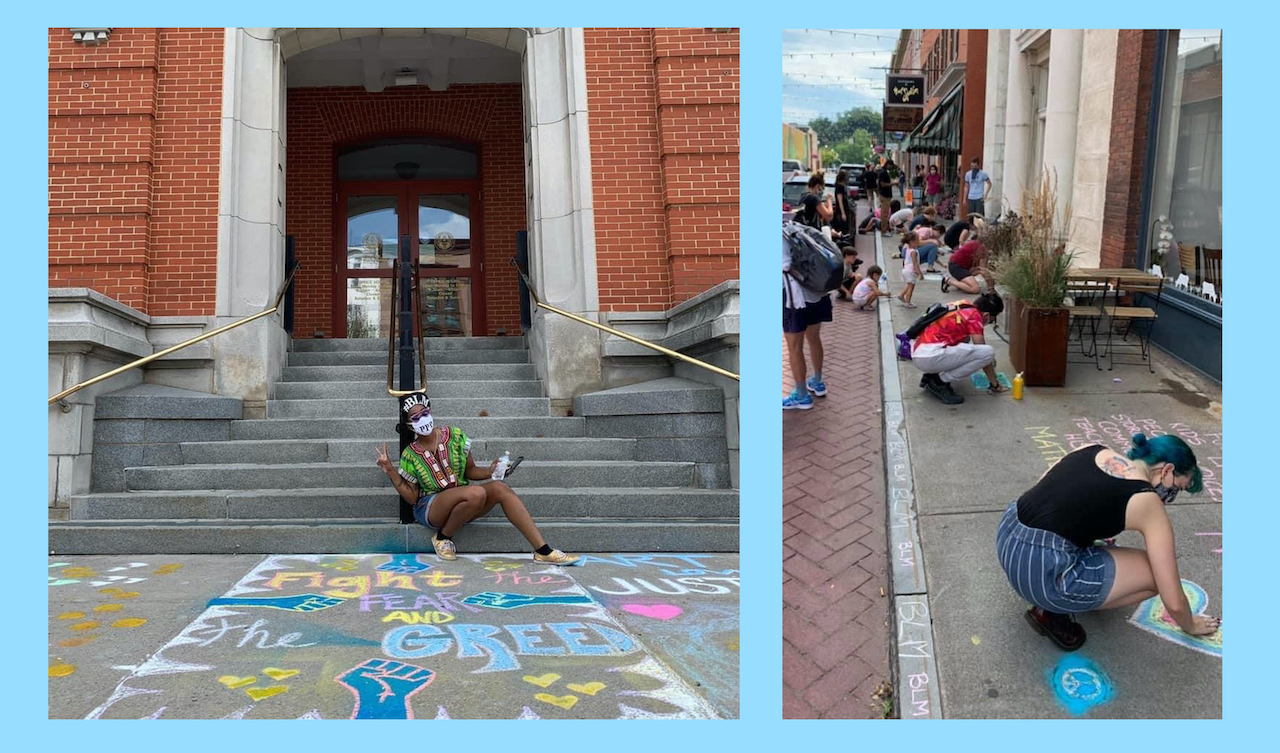 Geneva's public art committee calls for change in local ordinance after DPW removed chalk art