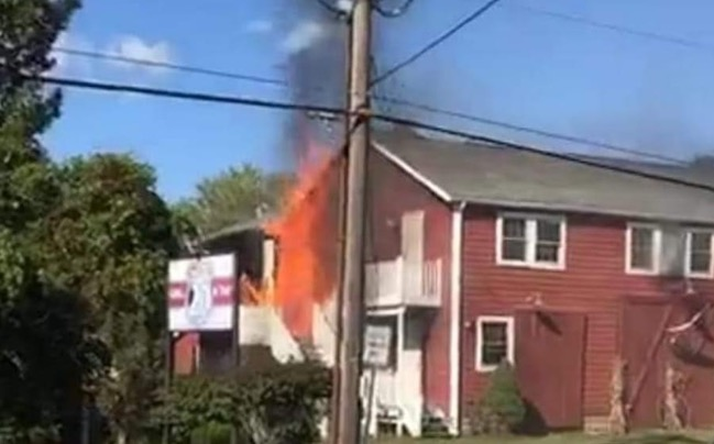 Building fire in Cayuga County temporarily shuts down Rt. 20