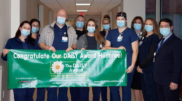 Michael Bonner honored with DAISY Award for nurses at FLH